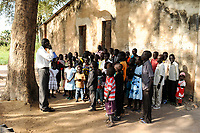 SOUTH SUDAN  Bahr al Ghazal region , Lakes State, town Rumbek, sunday mass at catholic church