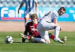Dundee v St Johnstone...25.04.15   SPFL<br /> Murray Davidson and Kevin Thomson<br /> Picture by Graeme Hart.<br /> Copyright Perthshire Picture Agency<br /> Tel: 01738 623350  Mobile: 07990 594431