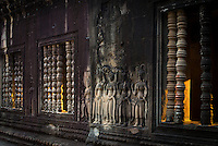 First morning light at the corridors at Angkor Wat,Siem Reap