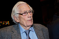 Seamus Mallon, retired leader, SDLP, political party, N Ireland, UK, at Belfast launch of Maurice Fitzpatrick&rsquo;s book, John Hume in America: From Derry to DC, at the Titanic Belfast, 25th January 2018, 201801254804<br /><br />Copyright Image from Victor Patterson, 54 Dorchester Park, <br />Belfast, UK, BT9 6RJ<br /><br />t1: +44 28 9066 1296 (from Rep of Ireland 048 9066 1296)<br />t2: +44 28 9002 2446 (from Rep of Ireland 048 9002 2446)<br />m: +44 7802 353836<br /><br />victorpatterson@me.com<br />www.victorpatterson.com<br /><br />Please see my Terms and Conditions of Use at VICTORPATTERSON.COM. It is IMPORTANT that you familiarise yourself with them.<br /><br />Images used on the Internet must be visibly watermarked i.e. &copy;VICTORPATTERSON.COM within the body of the image and copyright metadata must not be deleted. Images used on the Internet have a size restriction of 4kbs and are chargeable at the then current NUJ rates.<br /><br />This image is only available for the use of the download recipient i.e. television station, newspaper, magazine, book publisher, etc, and must not be passed on to any third party. It is also downloaded on condition that each and every usage is notified within 7 days to victorpatterson@me.com<br /><br />The right of Victor Patterson to be identified as the author is asserted in accordance with The Copyright Designs And Patents Act (1988).