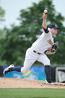 Trenton Thunder pitcher Caleb Cotham (34) during the game against the Harrisburg Senators at ARM & HAMMER Park on May 21, 2014 in Trenton, New Jersey.  Harrisburg defeated Trenton 9-0.  (Tomasso DeRosa/Four Seam Images)