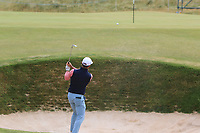 Wade Ormsby (AUS) plays out of a bunker on the 2nd during Round 1 of the Dubai Duty Free Irish Open at Ballyliffin Golf Club, Donegal on Thursday 5th July 2018.<br /> Picture:  Thos Caffrey / Golffile