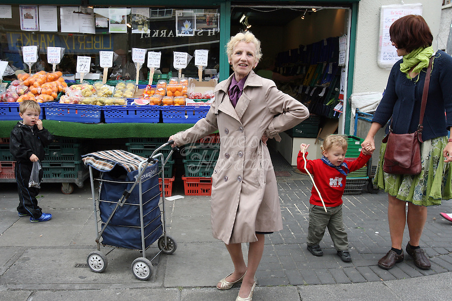 The Liberty Market Dublin, Ireland. The Liberty Market on Meath Street and Thomas Street are like stepping back in time to a pre Celtic Tiger Ireland. The Liberties has a real sense of community where old friends spend as much time chatting as they do shopping. The area could be the last pocket of resistance to the homogenization of Dublin. The market sells great value fruit and vegetables and a selection of knock-offs and out-of-date goods. The markets are held every Thursday to Saturday. Pictures by James Horan