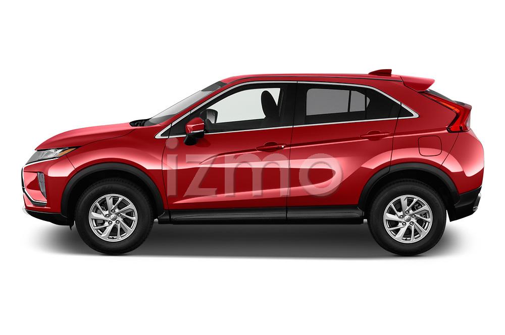 Car driver side profile view of a 2018 Mitsubishi Eclipse Cross ES 2WD 5 Door SUV