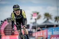 Christopher Juul-Jensen (DEN/Mitchelton-Scott) off the start ramp<br /> <br /> Stage 9 (ITT): Riccione to San Marino (34.7km)<br /> 102nd Giro d'Italia 2019<br /> <br /> ©kramon