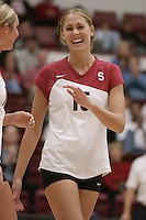 27 October 2005: Michelle Mellard during Stanford's 3-0 win over Oregon in Stanford, CA.