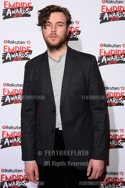 Tom Hughes arriving for the Empire Awards 2018 at the Roundhouse, Camden, London, UK. <br /> 18 March  2018<br /> Picture: Steve Vas/Featureflash/SilverHub 0208 004 5359 sales@silverhubmedia.com