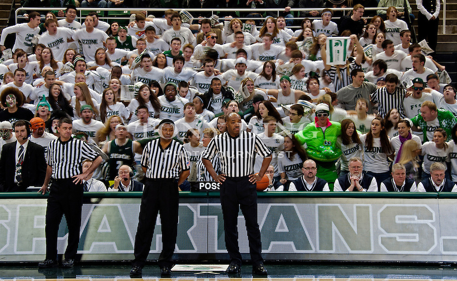 MICHIGAN STATE 61 MICHIGAN 57, JANUARY 27, 2011, BRESLIN CENTER, EAST LANSING, MICHIGAN. .TONY DING FOR SCHWARTZMAN SPORTS ALL RIGHTS RESERVED