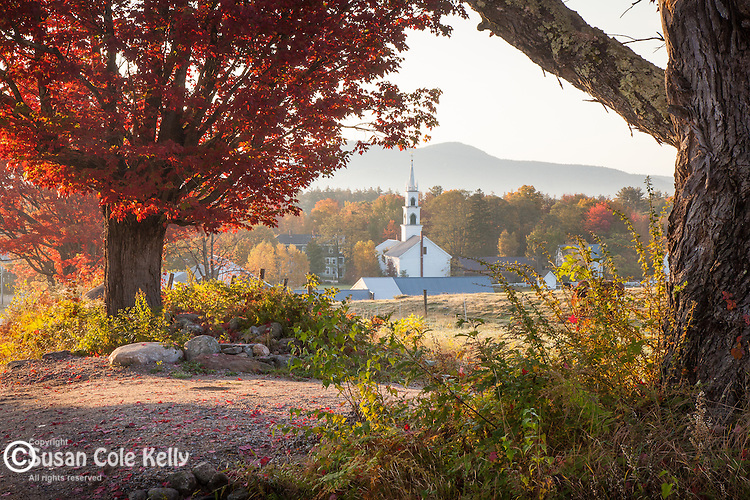 Fall foliage at the Remick Country Doctor Museum in Tamworth, White Mountains, NH