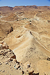 Siege Embankment At Masada Built By The Romans
