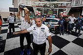 Winners #73 LA Honda World Racing Honda Civic TCR, TCR: Mike LaMarra, Mat Pombo and team, podium, team owner Luis Perocarpi, champagne