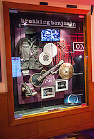 LAS VEGAS, NV - August 18, 2016: ***HOUSE COVERAGE*** Breaking Benjamin Display Case pictured as they are honored with a memorabilia Case Display at Hard Rock Hotel & Casino in Las vegas, NV on August 18, 2016. Credit: GDP Photos/ MediaPunch