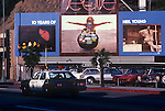 Neil Young billboard on Sunset Strip for album Decade circa 1977