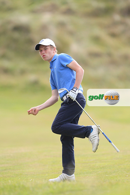 Campbell Rogers (Royal Portrush) on the 18th fairway during Round 3 of the Ulster Boys Championship at Castlerock Golf Club on Wednesday 2nd July 2015.<br /> Picture:  Golffile | Thos Caffrey