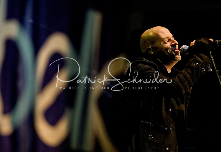American musician Chris Daughtry entertains the crowds during the pregame activities at the 2011 Belk Bowl outside of Bank of America Stadium in Charlotte, North Carolina...Photo by: Patrick SchneiderPhoto.com