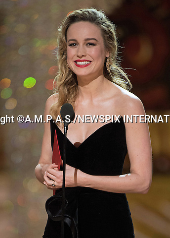 26.02.2017; Hollywood, USA: BRIE LARSON<br /> at The 89th Annual Academy Awards at the Dolby&reg; Theatre in Hollywood.<br /> Mandatory Photo Credit: &copy;AMPAS/NEWSPIX INTERNATIONAL<br /> <br /> IMMEDIATE CONFIRMATION OF USAGE REQUIRED:<br /> Newspix International, 31 Chinnery Hill, Bishop's Stortford, ENGLAND CM23 3PS<br /> Tel:+441279 324672  ; Fax: +441279656877<br /> Mobile:  07775681153<br /> e-mail: info@newspixinternational.co.uk<br /> Usage Implies Acceptance of Our Terms &amp; Conditions<br /> Please refer to usage terms. All Fees Payable To Newspix International