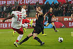 30.11.2019, RheinEnergieStadion, Koeln, GER, 1. FBL, 1.FC Koeln vs. FC Augsburg,<br />  <br /> DFL regulations prohibit any use of photographs as image sequences and/or quasi-video<br /> <br /> im Bild / picture shows: <br /> Jhon Córdoba (FC Koeln #15),   schiesst das 1:1<br /> <br /> Foto © nordphoto / Meuter