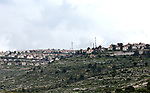 Picture taken on April 2, 2019, shows a general view of the Israeli Jewsih settlement of Elon Moreh, near the city of Nablus in the occupied West Bank. After the United States recognized the annexed Israel Occupied Golan Heights as Israeli territory, Israel's Prime Minister Benjamin Netanyahu will possibly declare illegal Jewish settlements in the occupied West Bank as Israeli territory if re-elected on the April 9 elections, according to media reports. Photo by Shadi Jarar'ah