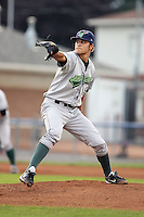 September 15 2008:  Starting pitcher Dan Jennings of the Jamestown Jammers, Class-A affiliate of the Florida Marlins, during a game at Dwyer Stadium in Batavia, NY.  Photo by:  Mike Janes/Four Seam Images