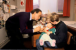 DOCTOR WIDGERY SURGERY, GILL ST, LONDON E14, MONDAY MORNING, 1989