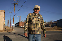 Floyd Parker outside a homeless shelter in Tulsa. Parker is a recovering alcoholic working to get his life back together.