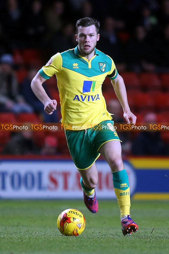 Johnny Howson, scorer of the first goal for Norwich - Charlton Athletic vs Norwich City - Sky Bet Championship Football at the Valley, London - 10/02/15 - MANDATORY CREDIT: Paul Dennis/TGSPHOTO - Self billing applies where appropriate - contact@tgsphoto.co.uk - NO UNPAID USE
