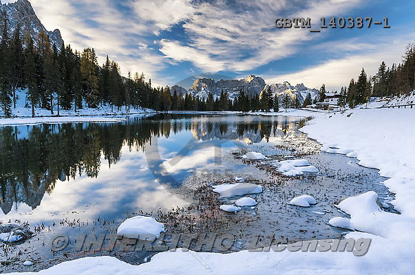 Tom Mackie, CHRISTMAS LANDSCAPE, photos,+Dolomites, Dolomiti, EU, Europa, Europe, European, Italia, Italian, Italy, Lake Antorno, South Tyrol, Trentino, alpine, alps,+cirrus, cloud, clouds, cloudscape, dramatic outdoors, horizontal, horizontals, inspirational, lake, mountain, mountainous, m+ountains, peak, pine tree, pine trees, pinnacle, reflect, reflecting, reflection, reflections, rocky, rugged, scenic, snow, s+now-covered, water, water's edge, weather, winter,Dolomites, Dolomiti, EU, Europa, Europe, European, Italia, Italian, Italy,+,GBTM140387-1,#xl#