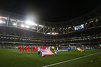 Dublin, Ireland - Tuesday, November 18, 2014: The Republic of Ireland defeat the USMNT 4-1 in an International friendly match at Aviva Stadium.