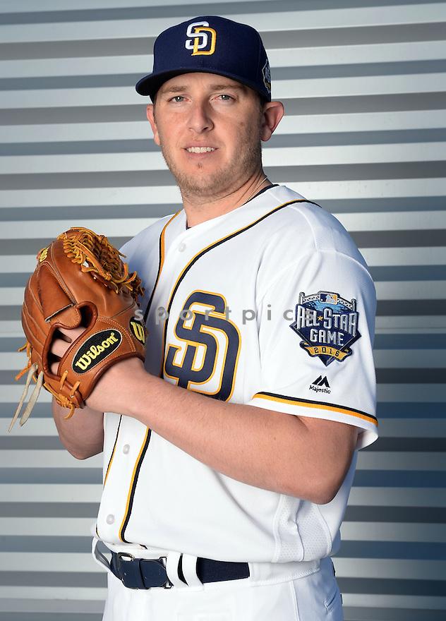 San Diego Padres Blake Smith (52) during photo day on February 26, 2016 in Peoria, AZ.