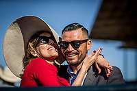 ARCADIA, CA -APRIL 08: Fans at the Santa Anita Derby at Santa Anita Park on April 08, 2017 in Arcadia, California. (Photo by Alex Evers/Eclipse Sportswire/Getty Images)