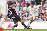 Danielo Luiz Da Silva of Real Madrid fights for the ball with Escalante of SD Eibar during their La Liga match between Real Madrid CF and SD Eibar at the Santiago Bernabéu Stadium on 02 October 2016 in Madrid, Spain. Photo by Diego Gonzalez Souto / Power Sport Images