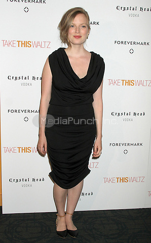 June 21, 2012 Director Sarah Polley at the screening of Take This Waltz presented by Forevermark at the Sunshine Landmark in New York City. © RW/MediaPunch Inc.
