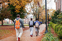 MSU Campus- Fall scenes - students walking<br />  (photo by Sarah Tewolde / &copy; Mississippi State University)