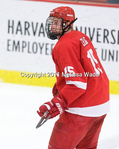 Rodger Craig (Cornell - 15) - The visiting Cornell University Big Red defeated the Harvard University Crimson 2-1 on Saturday, January 29, 2011, at Bright Hockey Center in Cambridge, Massachusetts.