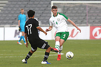 Conor Masterson of Republic of Ireland and Liverpool passes the ball upfield during Republic Of Ireland Under-21 vs Mexico Under-21, Tournoi Maurice Revello Football at Stade Parsemain on 6th June 2019