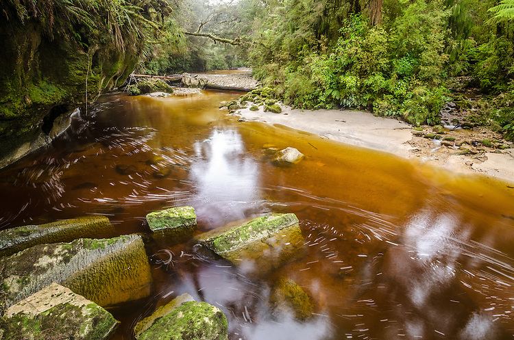 Oparara River, Kahurangi National Park, South Island, New Zealand - stock photo, canvas, fine art print
