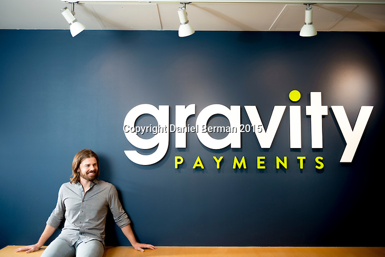 Gravity Payments CEO Dan Price at their headquarters in the Ballard neighborhood of Seattle. Price has promised an annual salary of $70,000 to all company employees, attracting global attention from the business world. Photo Seattle editorial photographer Daniel Berman/www.bermanphotos.com