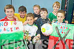WINNERS: Holy Family School Tralee pupils who won the KADE Football Against Racism soccer event last Friday, front l-r: Sean Hogan, Simon Draghici, Cathal Foley, Jordan O'Dwyer. Back l-r: Aaron Fleming, Aidan Davis, Nathan O'Connor.   Copyright Kerry's Eye 2008