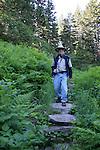 Hiker near Whittier