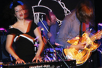 Arcade Fire plays at the Knitting Factory in New York City on April 12, 2004.
