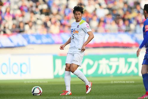Kazuhiko Chiba (Sanfrecce), <br /> APRIL 18, 2015 - Football /Soccer : <br /> 2015 J1 League 1st stage match <br /> between F.C. Tokyo 1-2 Sanfrecce Hiroshima <br /> at Ajinomoto Stadium, Tokyo, Japan. <br /> (Photo by YUTAKA/AFLO SPORT) [1040]