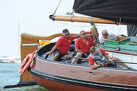 ZEILEN: STAVOREN: IJsselmeer, 26-07-2014, SKS skûtsjesilen, skûtsje Doarp Grou, schipper Douwe Azn. Visser, ©Martin de Jong