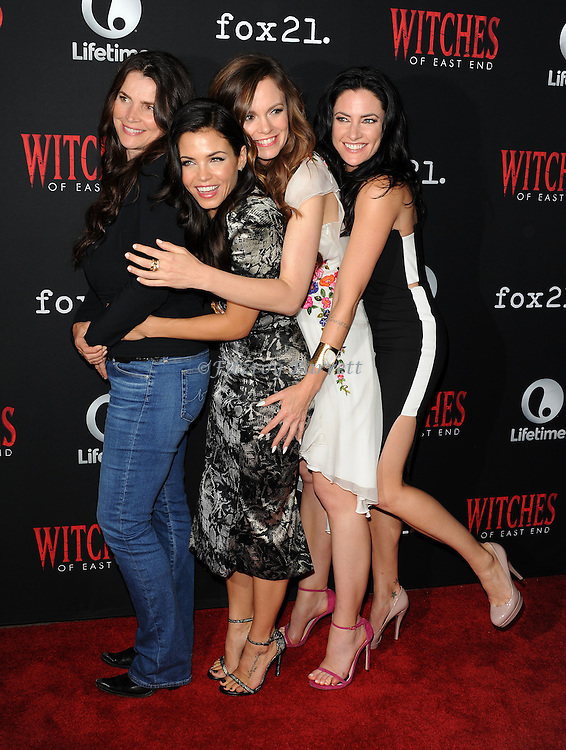 Julia Ormond, Jenna Dewan-Tatum, Rachel Boston and Madchen Amick arriving at the Witches of East End Comic-Con Party 2014 held at The Tipsy Crow in San Diego, Ca. July 24, 2014.