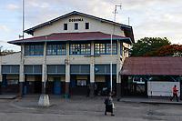 TANZANIA Dodoma, railway station, built during german colonial time / TANSANIA Dodoma, Stadt wurde 1907 von deutschen Kolonisten gegruendet, Bahnhof der Tanganjikabahn, das zweite Bahnprojekt der Kolonie Deutsch-Ostafrika, Bau der Gesamtstrecke von Dar nach Kigoma von 1904 - 1914 durch die Ostafrikanische Eisenbahngesellschaft (OAEG)