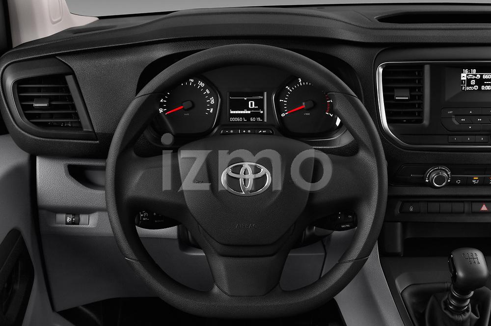 Car pictures of steering wheel view of a 2017 Toyota Proace-Verso Medium 5 Door Passenger Van Steering Wheel