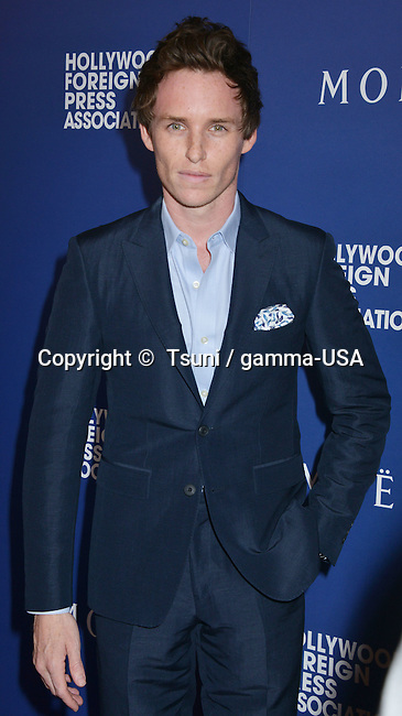 Eddie Redmayne at the HFPA Grants to Non Profits and Scholarship Programs at the Beverly Hilton In Los Angeles.