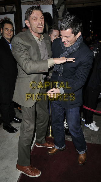 LONDON, ENGLAND - JANUARY 29: John Partridge &amp; Nigel Harman attend the &quot;Di and Viv and Rose&quot; press night, Vaudeville Theatre, The Strand, on Thursday January 29, 2015 in London, England, UK. <br /> CAP/CAN<br /> &copy;Can Nguyen/Capital Pictures