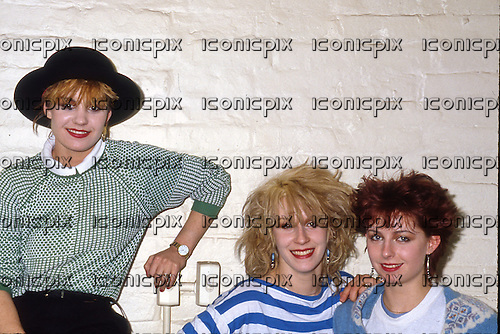 Bananarama - L-R: Siobhan Fahey, Sarah Dallin, Keren Woodward - photosession in London UK - 07 Apr 1982.  Photo credit: George Chin/IconicPix