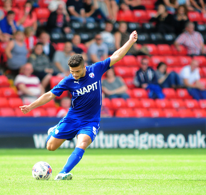 Chesterfield&rsquo;s Sam Morsy<br /> <br /> Photographer Chris Vaughan/CameraSport<br /> <br /> Football - Friendly - Lincoln City v Chesterfield - Saturday 19th July 2014 - Sincil Bank Stadium - Lincoln<br /> <br /> &copy; CameraSport - 43 Linden Ave. Countesthorpe. Leicester. England. LE8 5PG - Tel: +44 (0) 116 277 4147 - admin@camerasport.com - www.camerasport.com