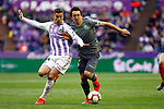 Real Valladolid's Keko and Real Sociedad's Mikel Oyarzabal during La Liga match. March 31, 2019. (ALTERPHOTOS/Manu R.B.)